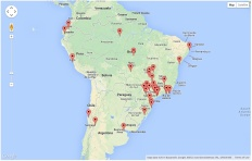 Site Visitors - South America